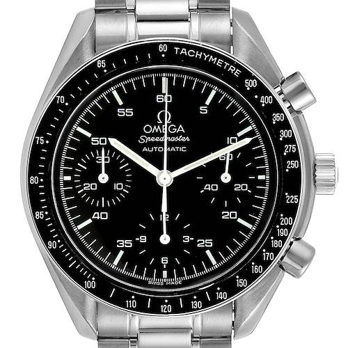 Photo of Omega Speedmaster Reduced Hesalite Crystal Automatic Mens Watch 3510.50.00 Card