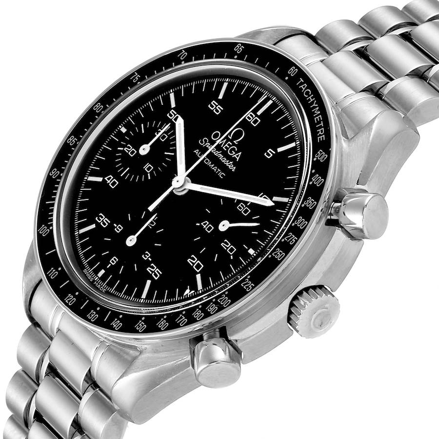 Omega Speedmaster Reduced Hesalite Crystal Automatic Mens Watch 3510.50.00 Card SwissWatchExpo