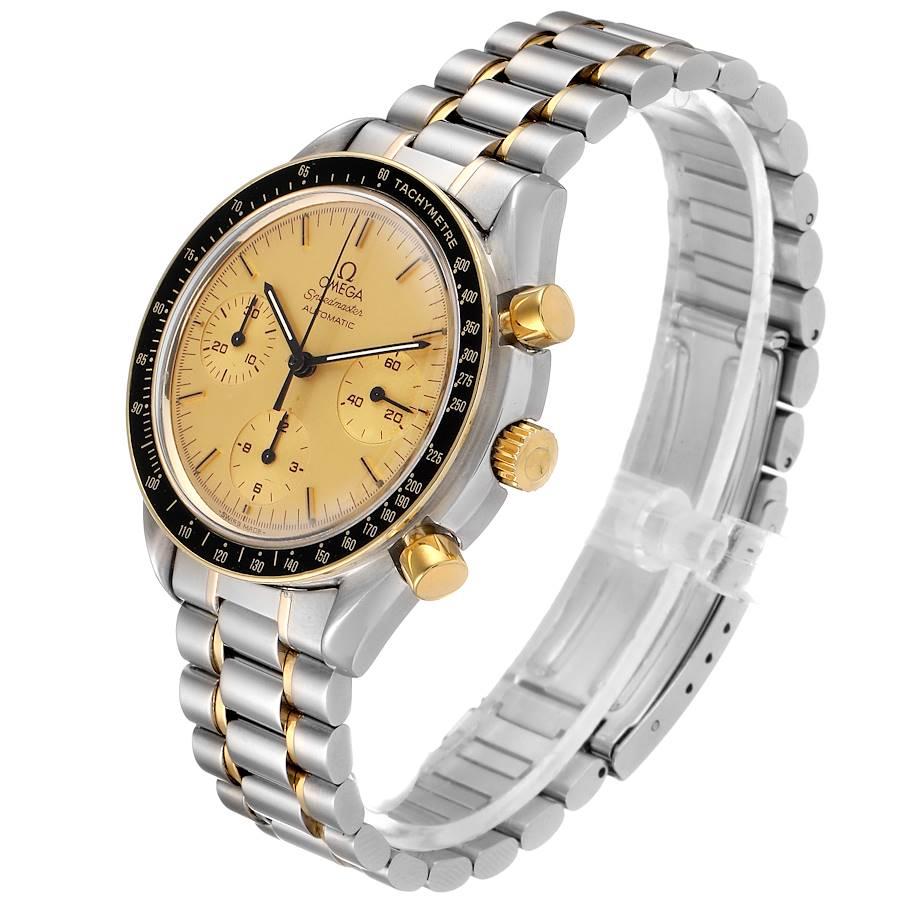 Omega Speedmaster Steel 18K Yellow Gold Automatic Watch 3310.10.00 SwissWatchExpo