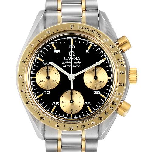 Photo of Omega Speedmaster Steel Yellow Gold Black Dial Mens Watch 175.0033