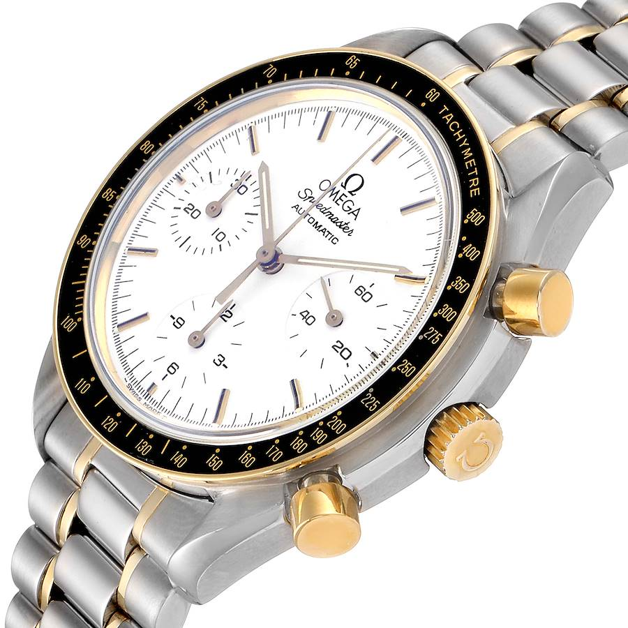 Omega Speedmaster Steel Yellow Gold Chronograph Mens Watch 3310.20.00 SwissWatchExpo