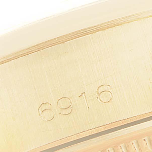 Rolex Datejust Oyster Bracelet 18K Yellow Gold Ladies Watch 6916 SwissWatchExpo