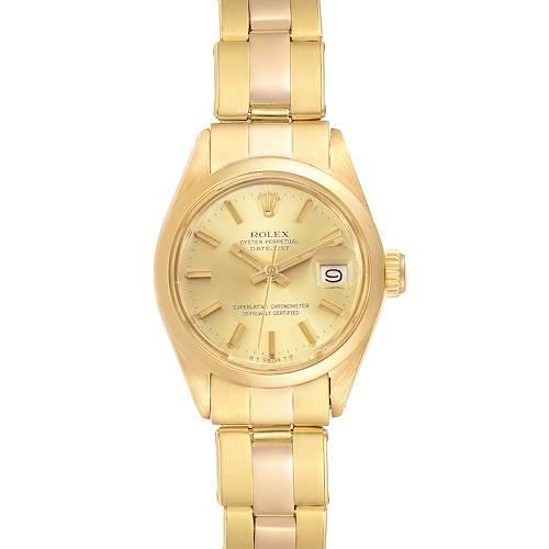 Photo of Rolex Datejust Oyster Bracelet 18K Yellow Gold Ladies Watch 6916