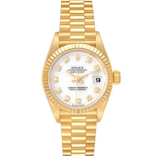 Photo of Rolex President Datejust Yellow Gold Diamond Ladies Watch 69178 Box