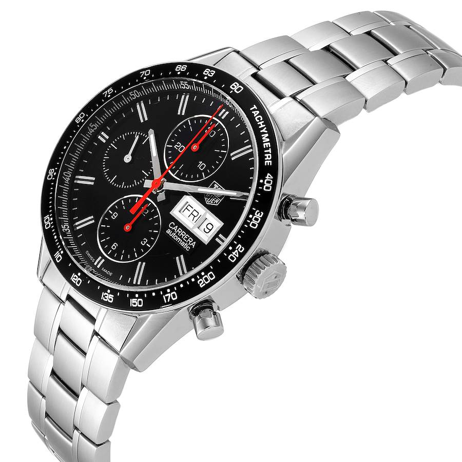Tag Heuer Carrera Black Dial Chronograph Mens Watch CV201AH SwissWatchExpo