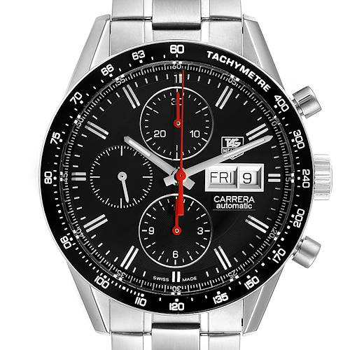 Photo of Tag Heuer Carrera Black Dial Chronograph Mens Watch CV201AH