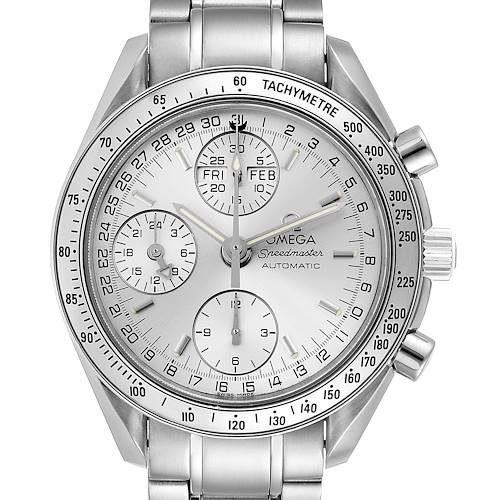 Photo of Omega Speedmaster Day Date Chronograph Silver Dial Mens Watch 3523.30.00 Box