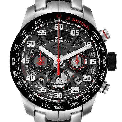 Photo of Tag Heuer Carrera Senna Special Edition Chronograph Watch CBG2013 Box Card