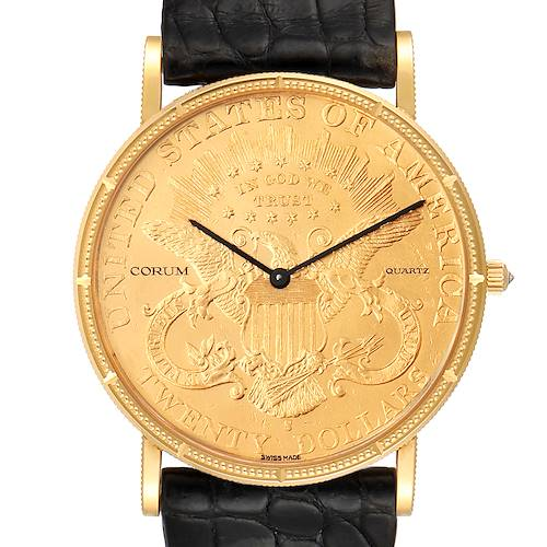 Photo of Corum 20 Dollars Double Eagle Yellow Gold Coin Year 1894 Mens Watch