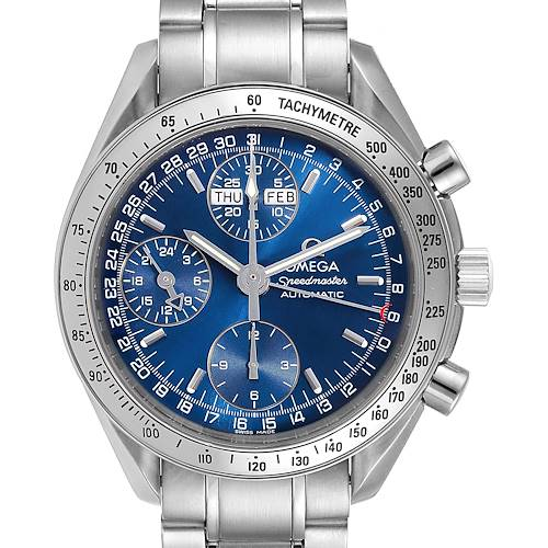 Photo of Omega Speedmaster Day-Date Blue Dial Mens Watch 3523.80.00 Card