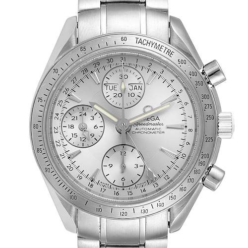 Photo of Omega Speedmaster Day Date Chrono Silver Dial Watch 3221.30.00 Card