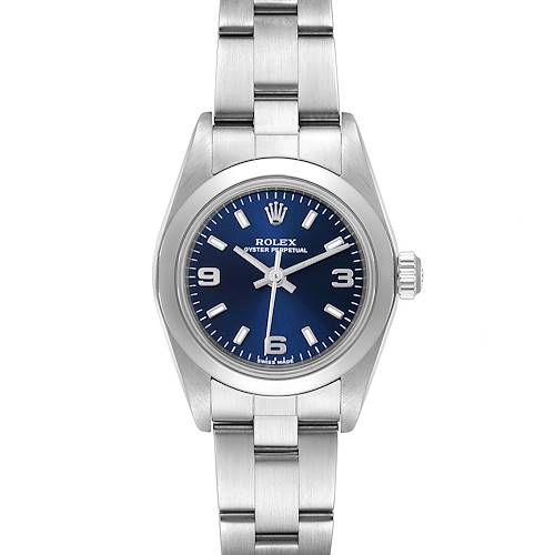 Photo of Rolex Oyster Perpetual 24 Nondate Blue Dial Ladies Watch 76080 Box