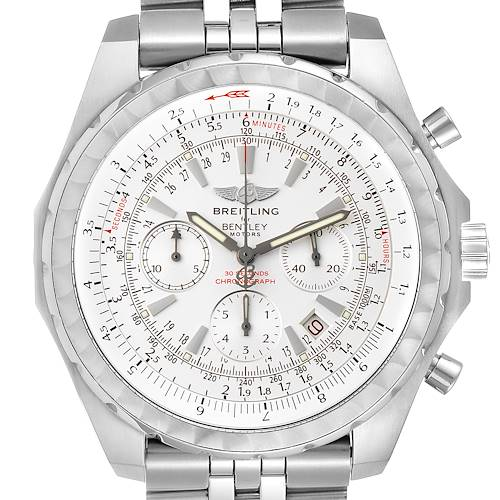 Photo of Breitling Bentley Motors T White Dial Chronograph Mens Watch A25363 Box