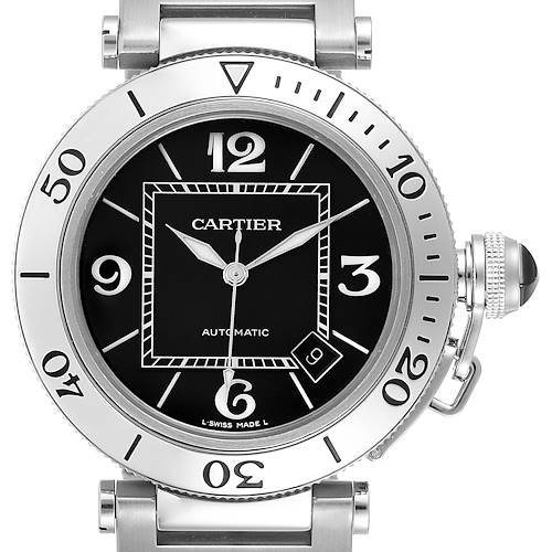 Photo of Cartier Pasha Seatimer Black Dial Automatic Mens Watch W31077M7