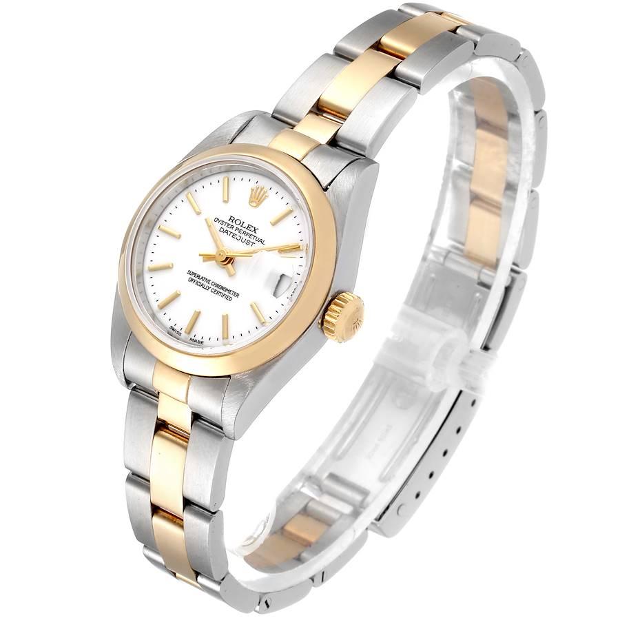 Rolex Datejust Steel Yellow Gold White Dial Ladies Watch 79163 SwissWatchExpo
