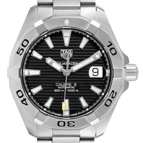 Photo of Tag Heuer Aquaracer Calibre 5 Black Dial Mens Watch WBD2110 Box Card