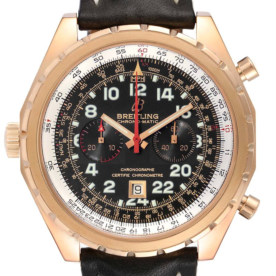 Breitling Chronomatic Limited Edition Rose Gold Watch H22360 Box SwissWatchExpo