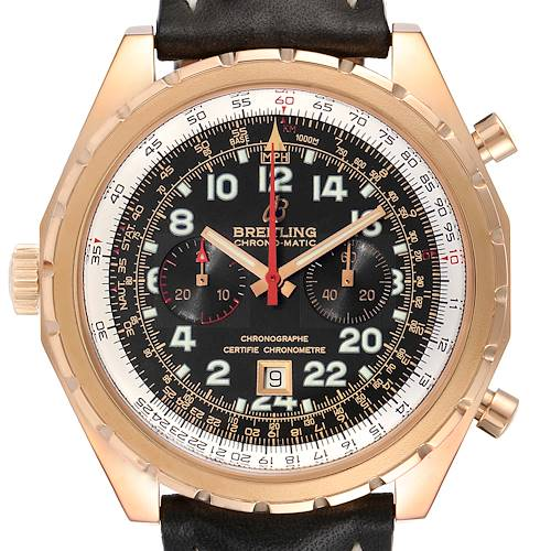 Photo of Breitling Chronomatic Limited Edition Rose Gold Watch H22360 Box