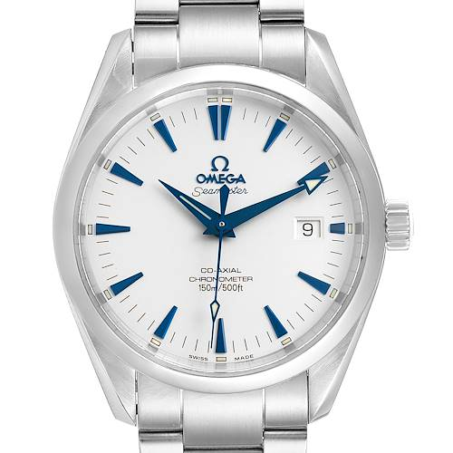 Omega Seamaster Aqua Terra Blue Hands Steel Mens Watch 2503.33.00 Box Card
