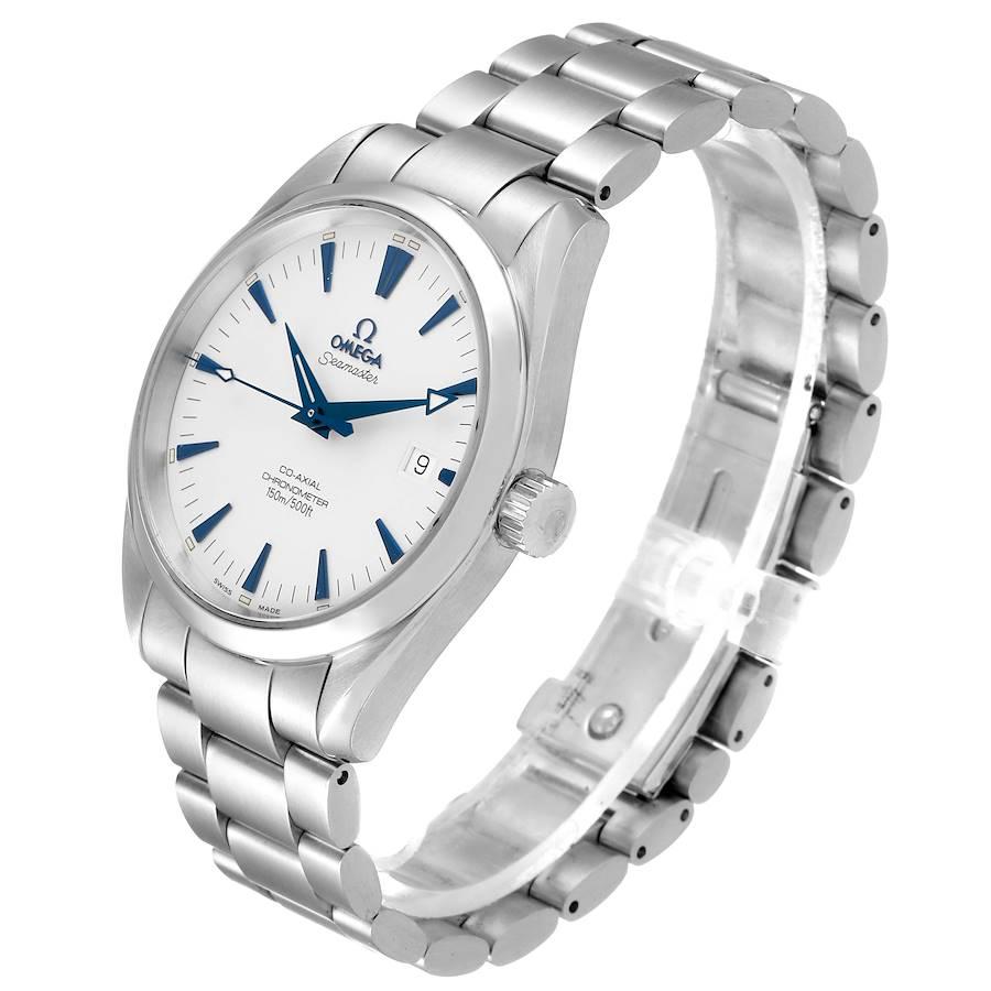 Omega Seamaster Aqua Terra Blue Hands Steel Mens Watch 2503.33.00 Box Card SwissWatchExpo