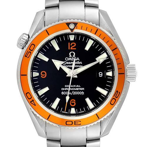 Photo of Omega Seamaster Planet Ocean Orange Bezel Steel Mens Watch 2209.50.00 Box