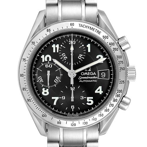 Photo of Omega Speedmaster Date Black Arabic Dial Steel Mens Watch 3513.52.00