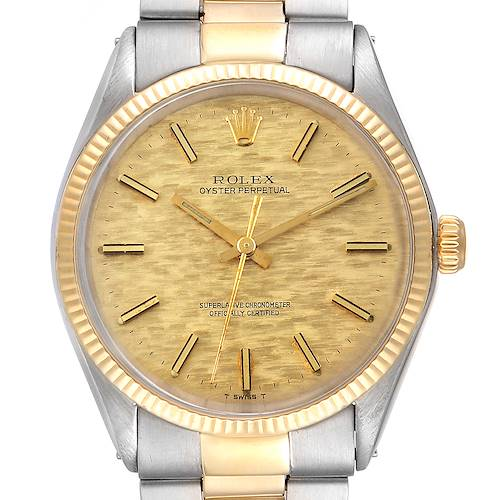 Photo of Rolex Oyster Perpetual Vintage Steel Yellow Gold Mens Watch 1002
