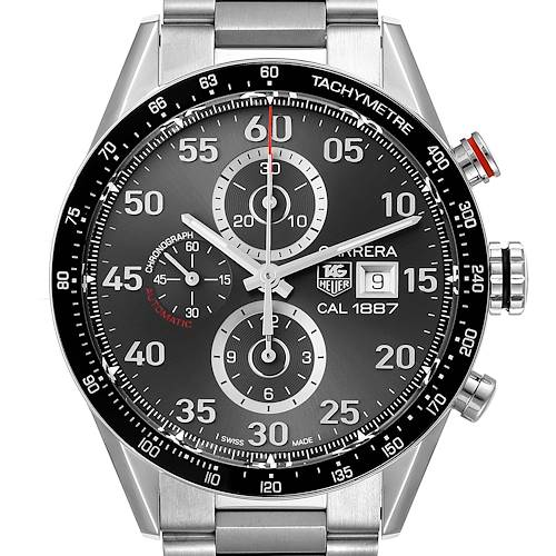 Photo of Tag Heuer Carrera Grey Dial Chronograph Mens Watch CAR2A11