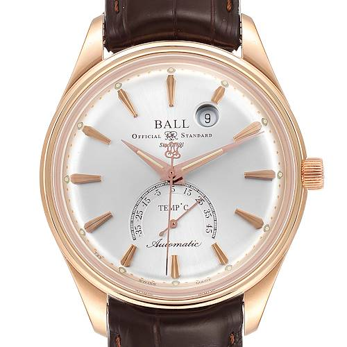 Photo of Ball Trainmaster Kelvin 18K Rose Gold Limited Edition Mens Watch NT3888P