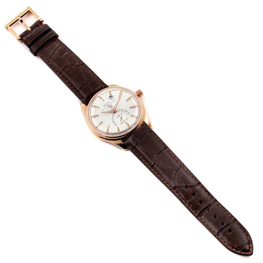 Ball Trainmaster Kelvin 18K Rose Gold Limited Edition Mens Watch NT3888P SwissWatchExpo