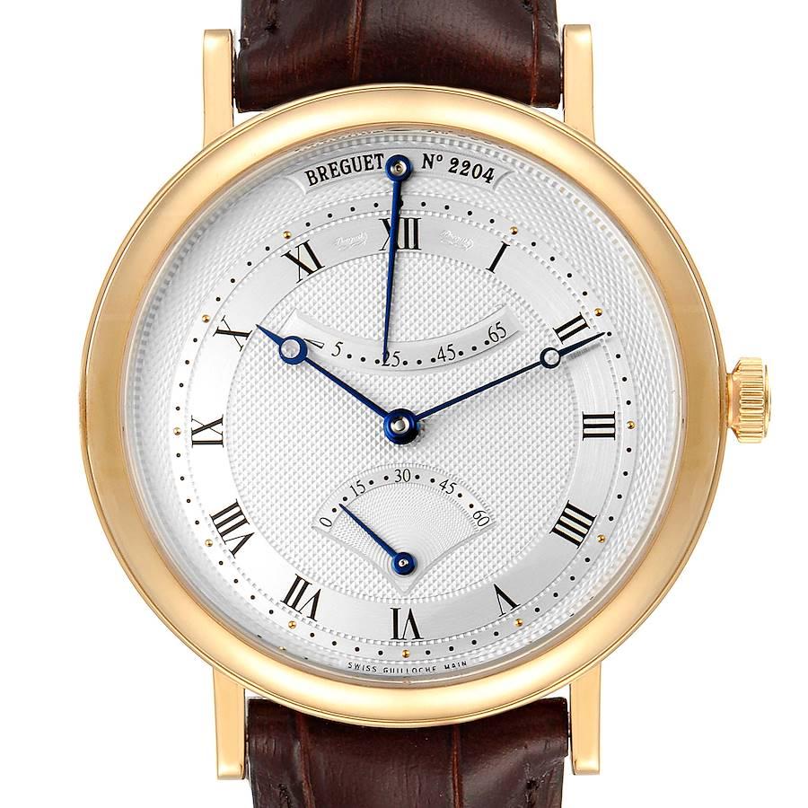 Breguet Classique Yellow Gold Retrograde Seconds Mens Watch 5207 Papers SwissWatchExpo