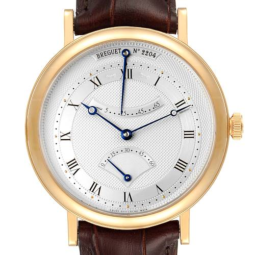 Photo of Breguet Classique Yellow Gold Retrograde Seconds Mens Watch 5207 Papers