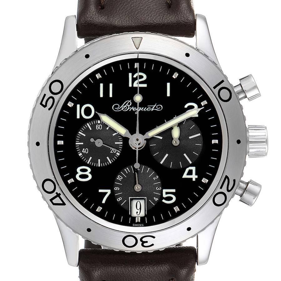 Breguet Transatlantique Type XX Flyback Steel Mens Watch 3820ST Box Papers SwissWatchExpo
