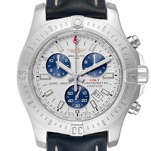 Photo of Breitling Colt Chronograph Blue Subdials Steel Mens Watch A73388