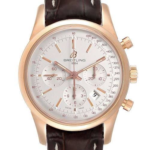 Photo of Breitling Transocean 43mm Rose Gold Mens Watch RB0152 Box