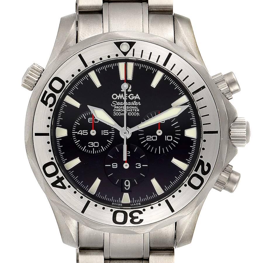 Omega Seamaster 300M Chronograph Titanium Mens Watch 2293.52.00 Box Papers SwissWatchExpo