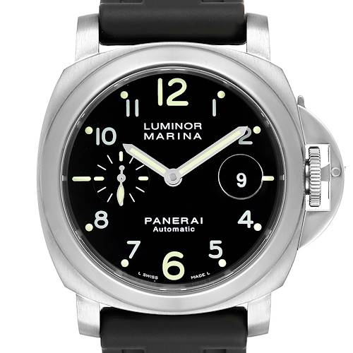 Photo of Panerai Luminor Marina 44mm Automatic Steel Mens Watch PAM00164 Box Papers