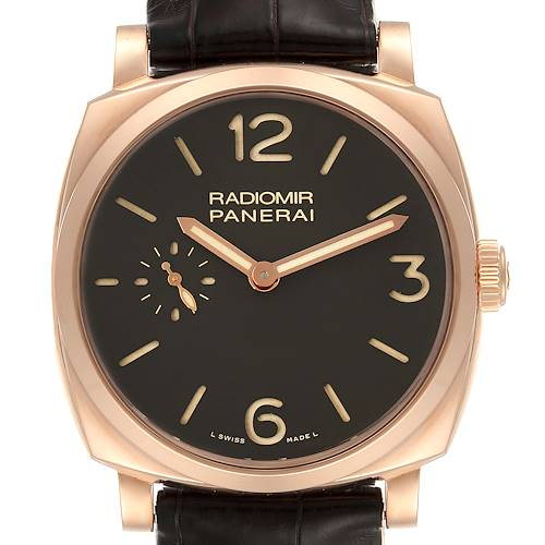 Photo of Panerai Radiomir 1940 42mm Rose Gold Mens Watch PAM00513 Box Papers