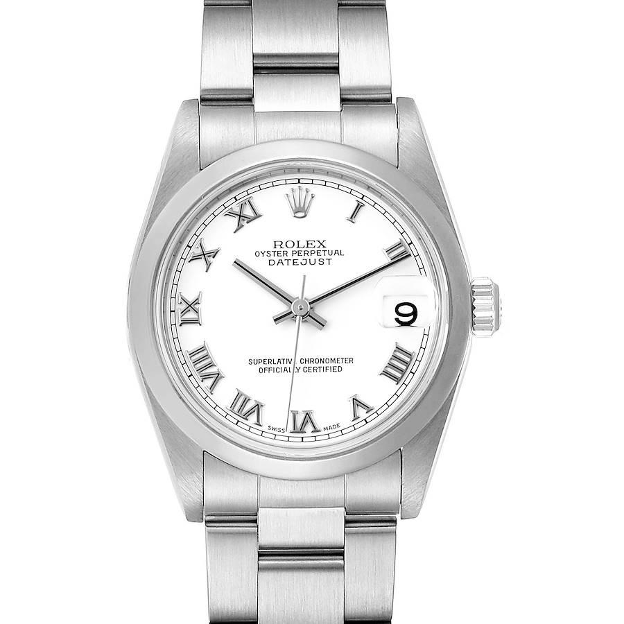 Rolex Datejust 31 Midsize White Roman Dial Steel Ladies Watch 78240 Box SwissWatchExpo