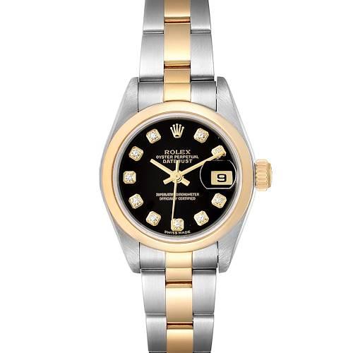 Photo of Rolex Datejust Steel Yellow Gold Diamond Ladies Watch 79163 Box
