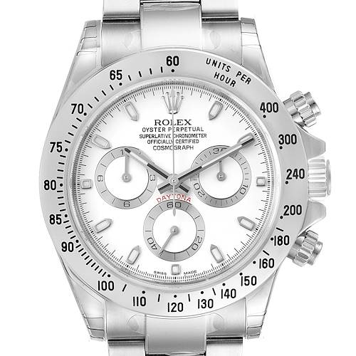 Photo of Rolex Daytona White Dial Chronograph Stainless Steel Mens Watch 116520 Unworn