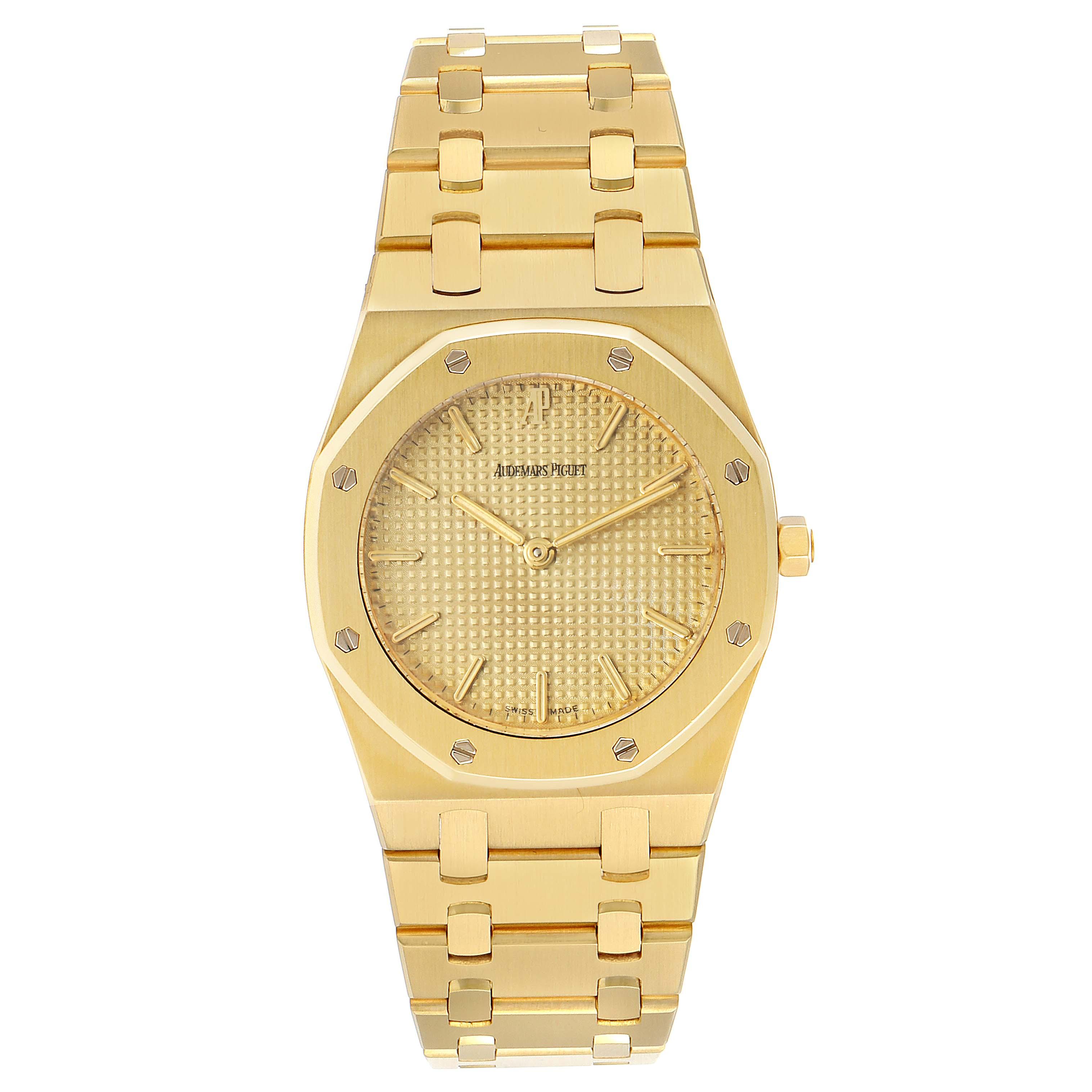 Audemars Piguet Royal Oak Midsize 33mm Yellow Gold Mens Watch SwissWatchExpo