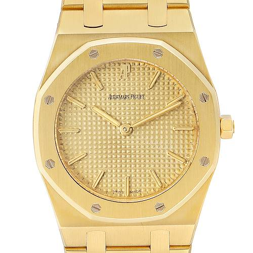 Audemars Piguet Royal Oak Midsize 33mm Yellow Gold Mens Watch