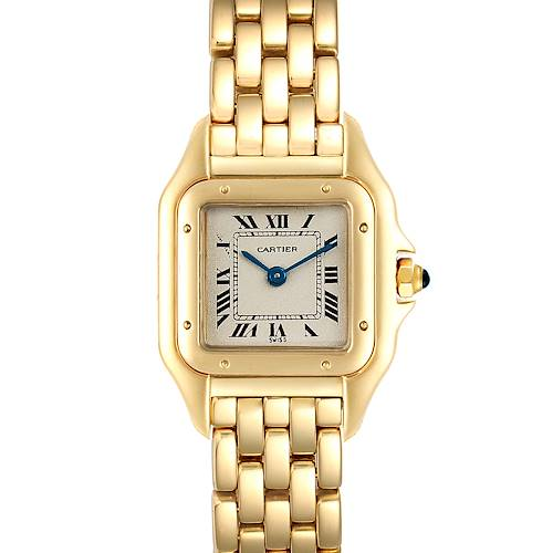 Cartier Panthere Small Yellow Gold Silver Dial Ladies Watch W25022B9 Box