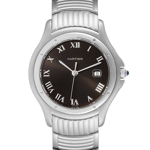 Photo of Cartier Santos Ronde Grey Dial Steel Unisex Watch W20027K1