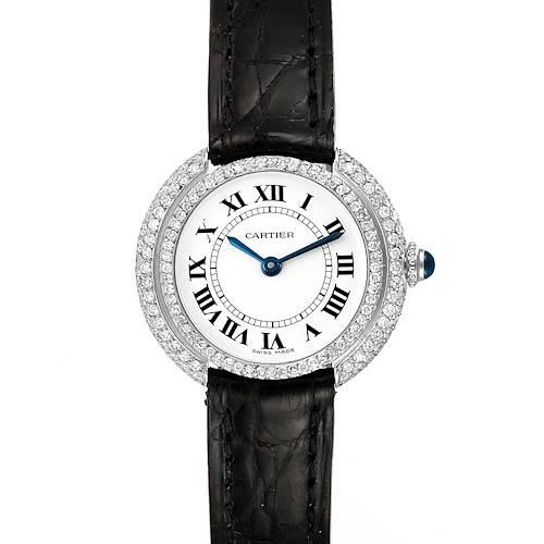 Photo of Cartier Vendome 18K White Gold Diamond Ladies Watch W15071G8