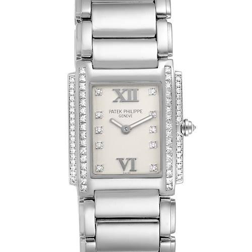 Photo of Patek Philippe Twenty-4 White Gold Diamond Ladies Watch 4908 Box Papers