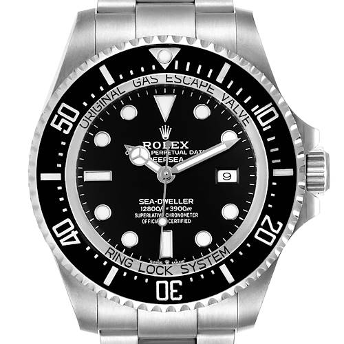 Photo of Rolex Seadweller Deepsea 44 Black Dial Steel Mens Watch 126660 Unworn
