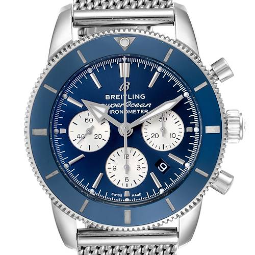 Photo of Breitling SuperOcean Heritage II B01 Blue Dial Steel Mens Watch AB0162