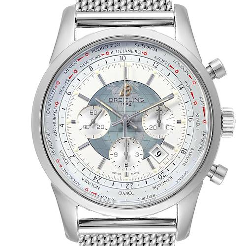 Photo of Breitling Transocean Chronograph Unitime Steel Mens Watch Watch AB0510